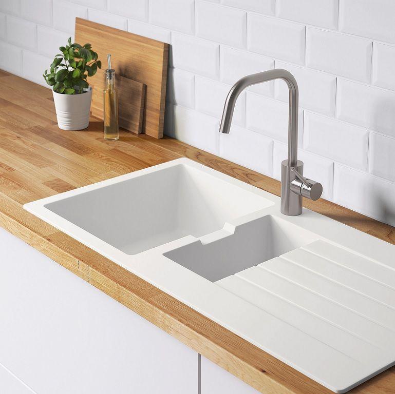 Fregaderos de #Ikea para una cocina bonita e práctica: de acero, cuarzo, cerámica.... #fregaderos #cocinasIke… | Fregaderos de cocina, Fregaderos blanco, Fregaderos