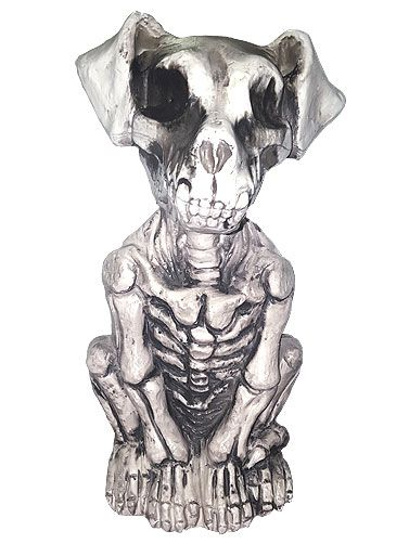 Plastic Skeleton Dog Halloween Decoration, Scary Animal Props Dark