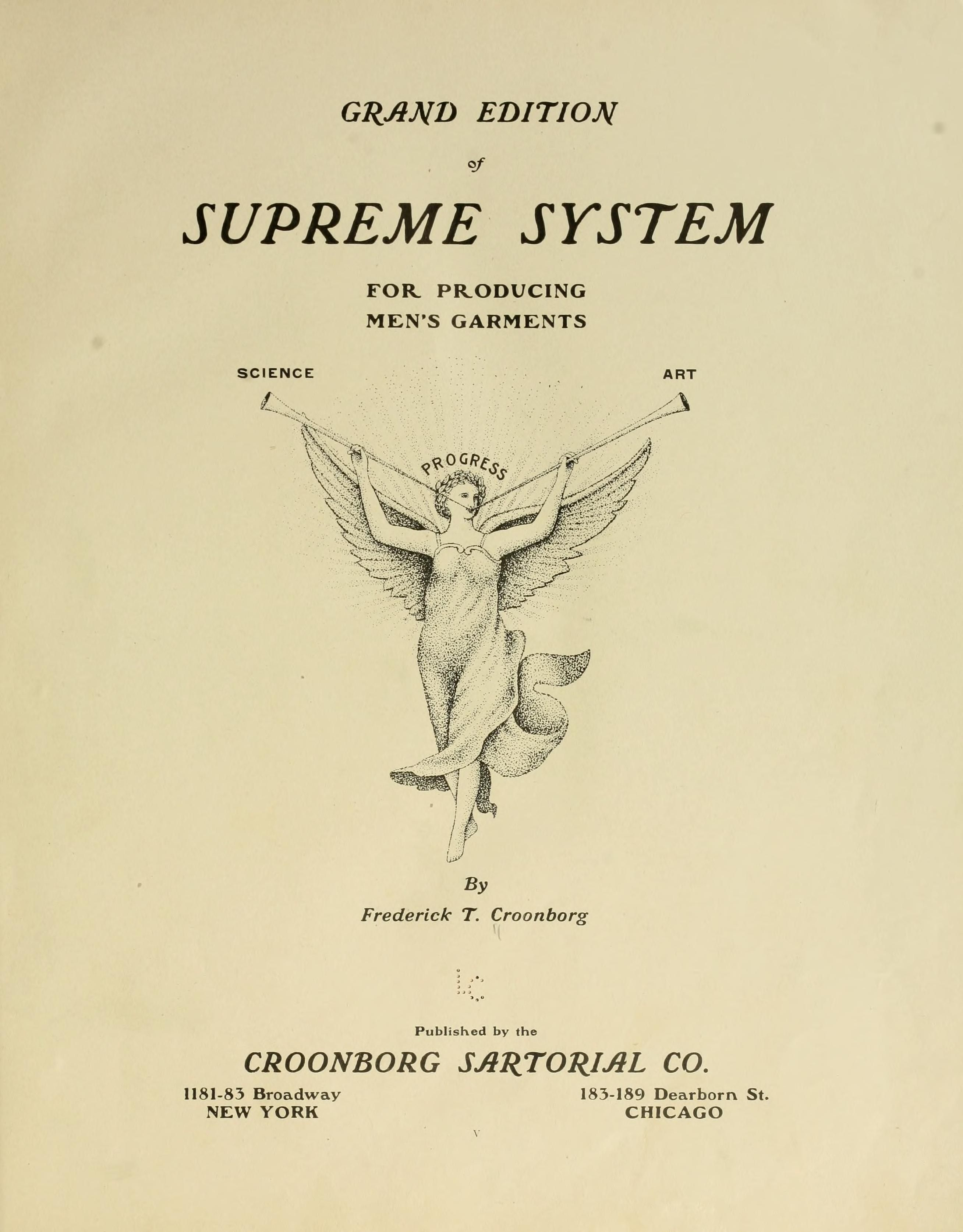 Grand Edition Of Supreme System For Producing Men S Garments In 2020 Vintage Sewing Books Mens Sewing Patterns Sewing Design