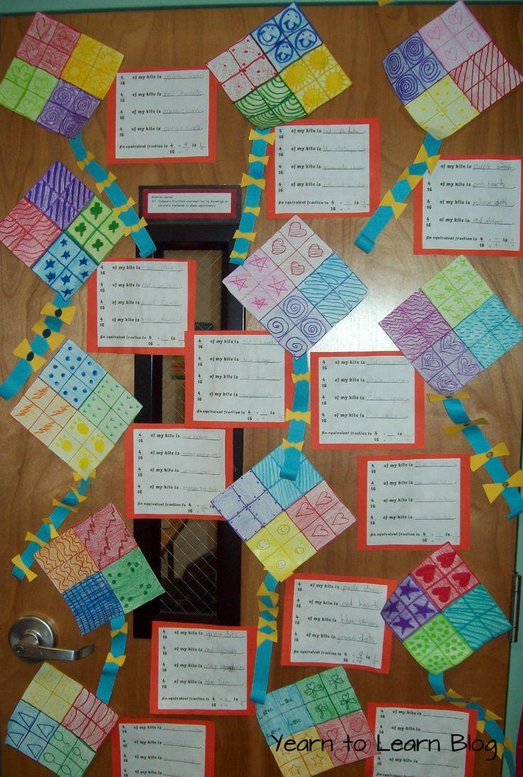 Fraction kites   Elementary Classroom   Pinterest