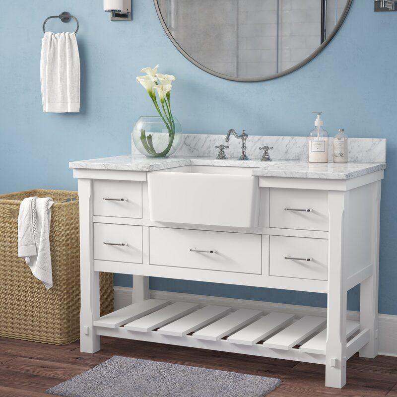 Gracie oaks erion 48 single bathroom vanity set reviews
