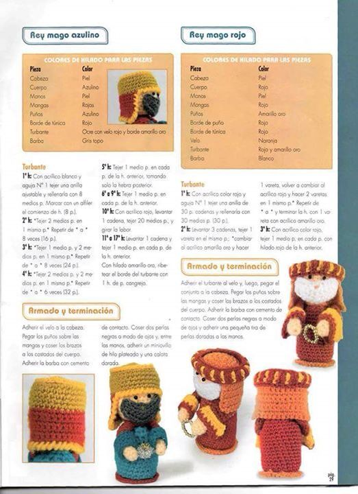 Nacimiento amigurumi 2 reyes | creaciones | Pinterest | Patrones ...