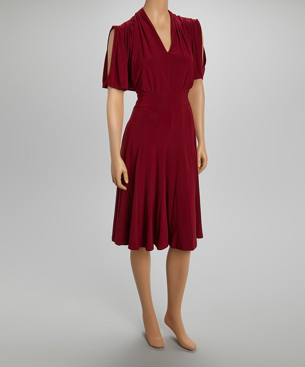Love this quiz burgundy cutout dress by quiz on zulily