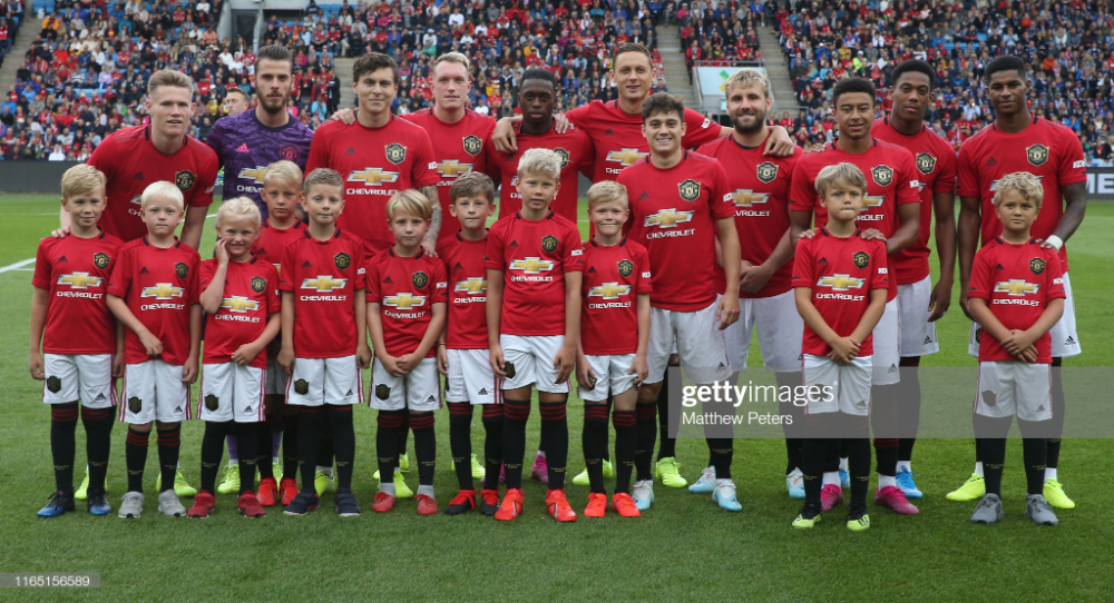 The Manchester United Team Line Up Ahead Of The Pre Season Friendly Manchester United Team Manchester United Manchester