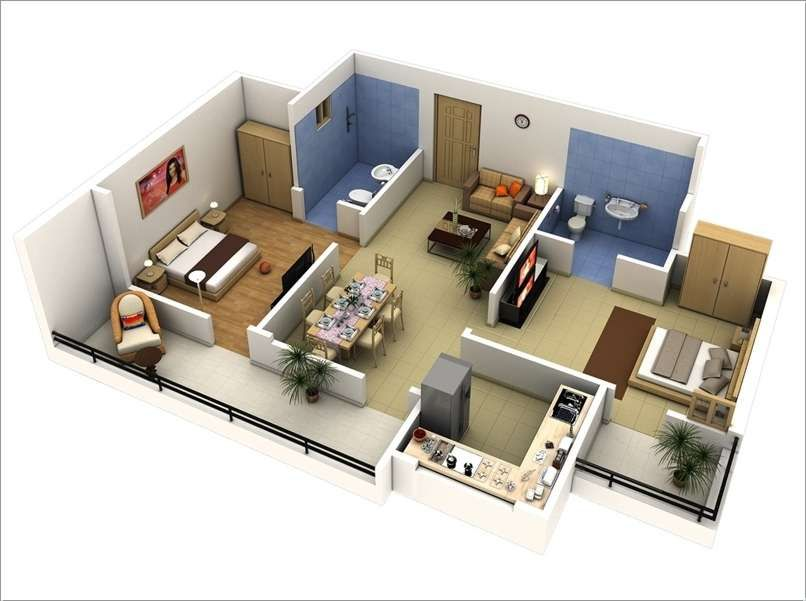 double bedroom house plans