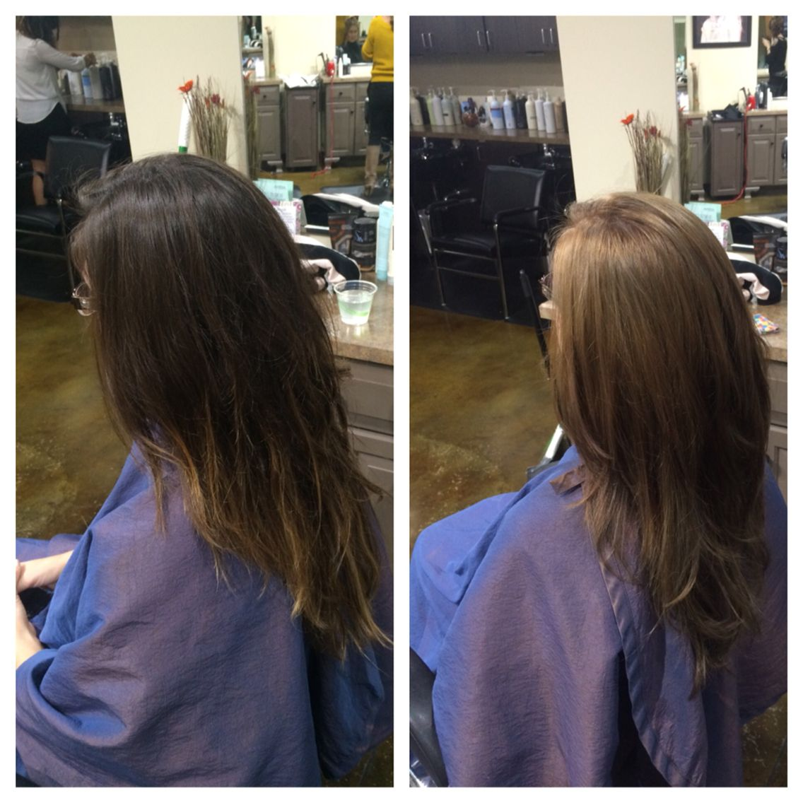 Before And After Color By Rachel Hair Styles My Hair Hair Art