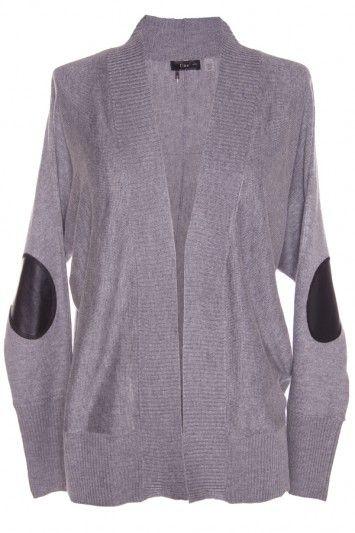 Dex Elbow Patch Sweater via Bevello