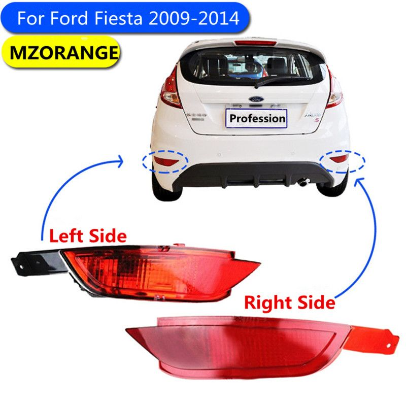 Car Red Tail Rear Bumper Reflector Lamp For Ford Fiesta 2009 2014 Hatchback Brake Light Rear Fog Lights Quality Assured Wholesal Ford Fiesta Car Lights Lights