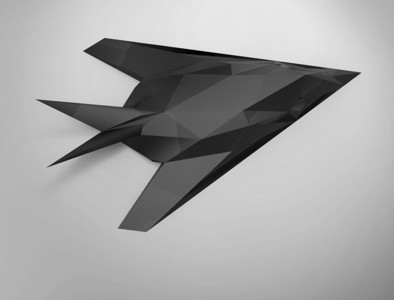Printable Paper Craft Model Of F-117 Nighthawk Fighter Jet