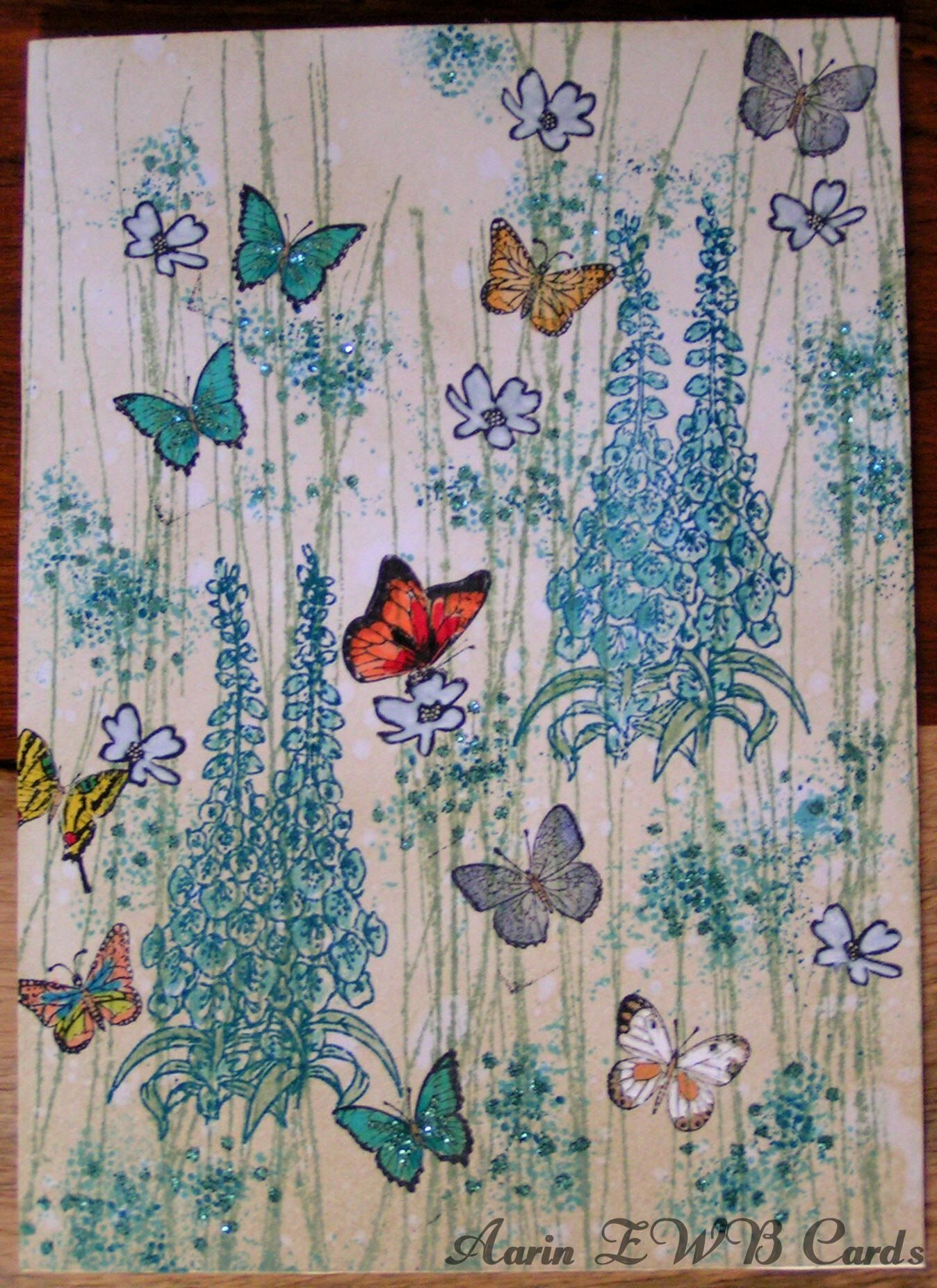 Meadow butterflies...inspired by a card someone sent me.