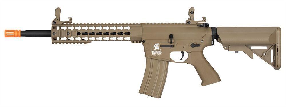 390fps Lancer Tactical Gen 2 M4 Aeg Metal Gear Electric Airsoft Rifle Kit Tan Rifle Metal Gear Airsoft