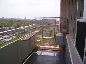 Cat Balcony Apartment Small Living Ideas Balconies