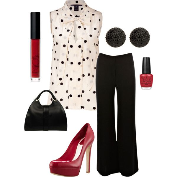 """Pop of Red"" by alttra on Polyvore"