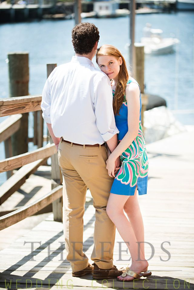 Engagement Photos in Mystic CT on Docks