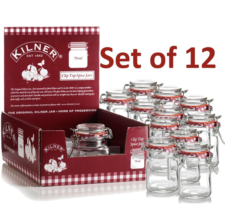 12 Mini Kilner Preserve Jars 70ml: Amazon.co.uk: Kitchen