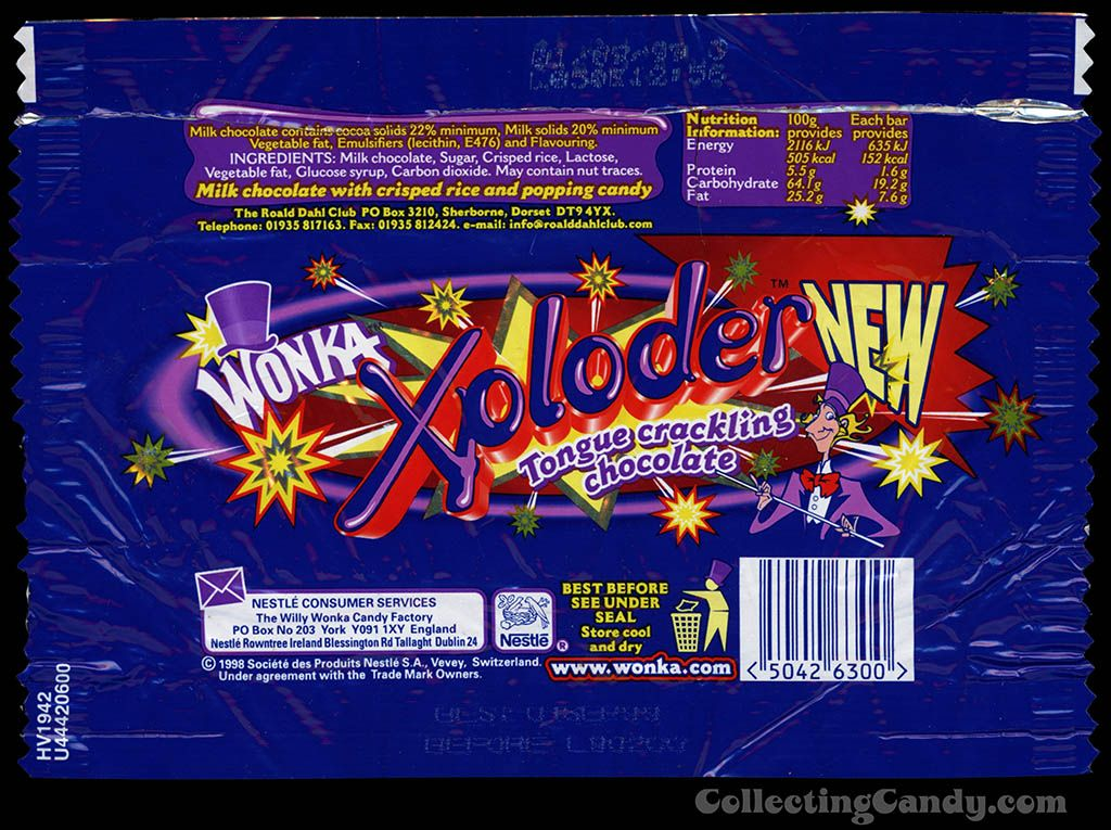Wonka Xploder Released In 1999 Nostalgia Old Sweets