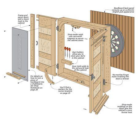 Dartboard Cabinet Dartboard Cabinet Diy Dart Board Cabinet Woodsmith Plans