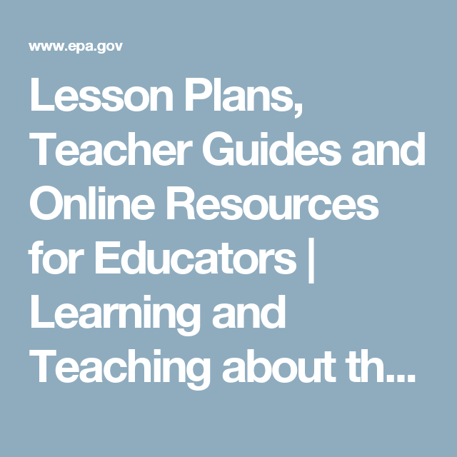 lesson plans teacher guides and online resources for