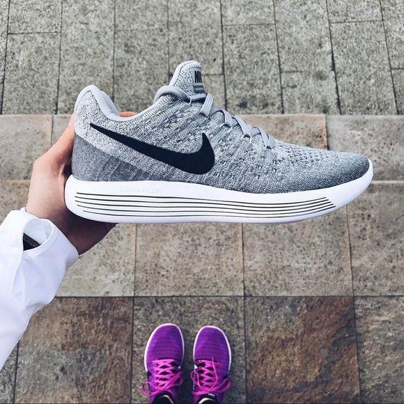 Nike Wolf Grey Lunarepic Low Flyknit 2 Sneakers Sneakers Nike Flyknit