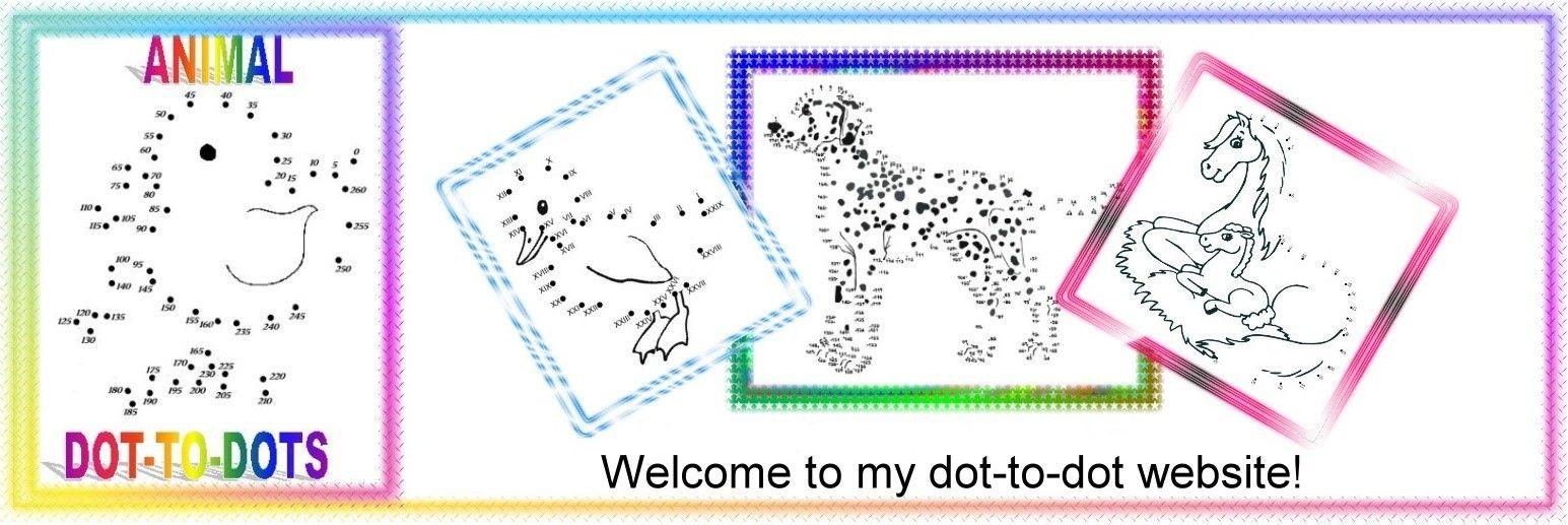 Dot to dot in roman numerals! Easy printable animal dotto