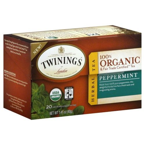 Twinings Organic Peppermint Bagged Tea, 20 Ct