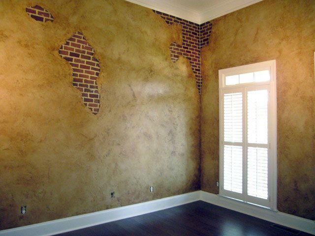 Auzias Design Group Faux Brick Walls Tuscan Style Decorating Basement Bar Designs