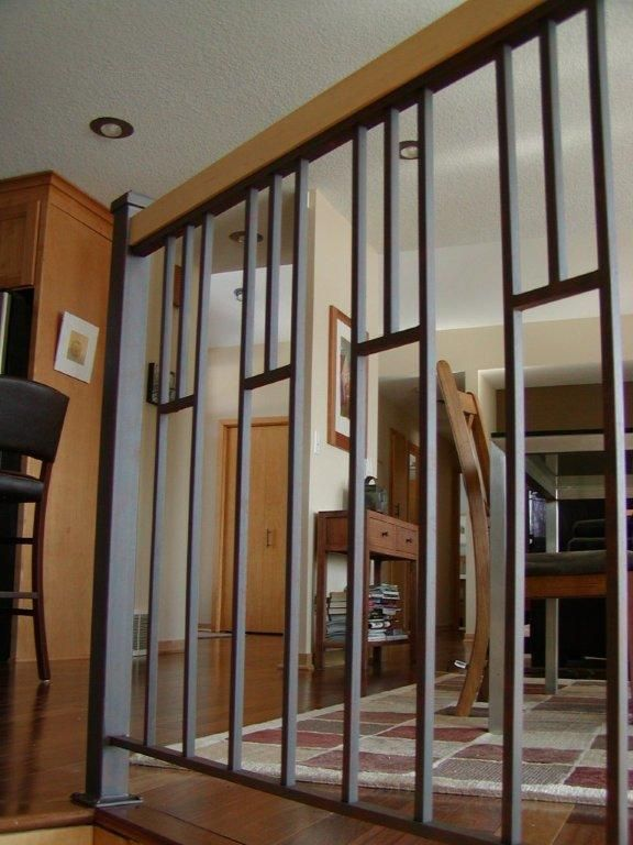 Best Custom Interior Iron Railing Indoor Railing Metal Stair 640 x 480