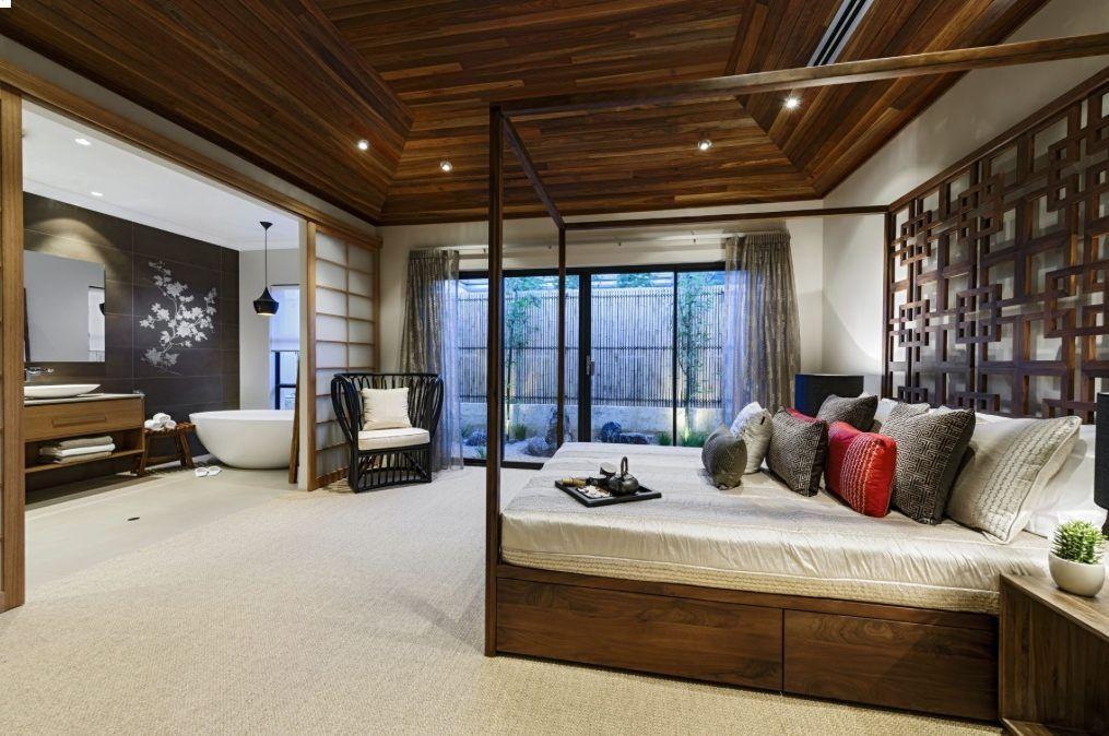 Traditional Korean Interior Design Black Hexagon Modern ...