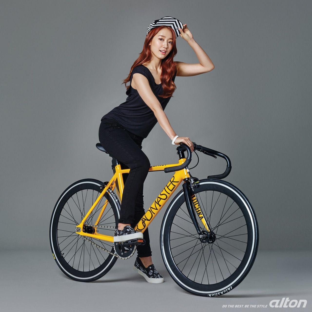 Park Shin Hye Park Shin Hye Bicycle Girl Bicycle Fashion Women