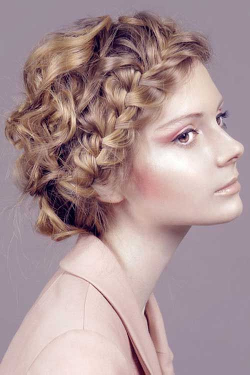 Easy Braided Short Hairstyles For Curly Hair Short Braids