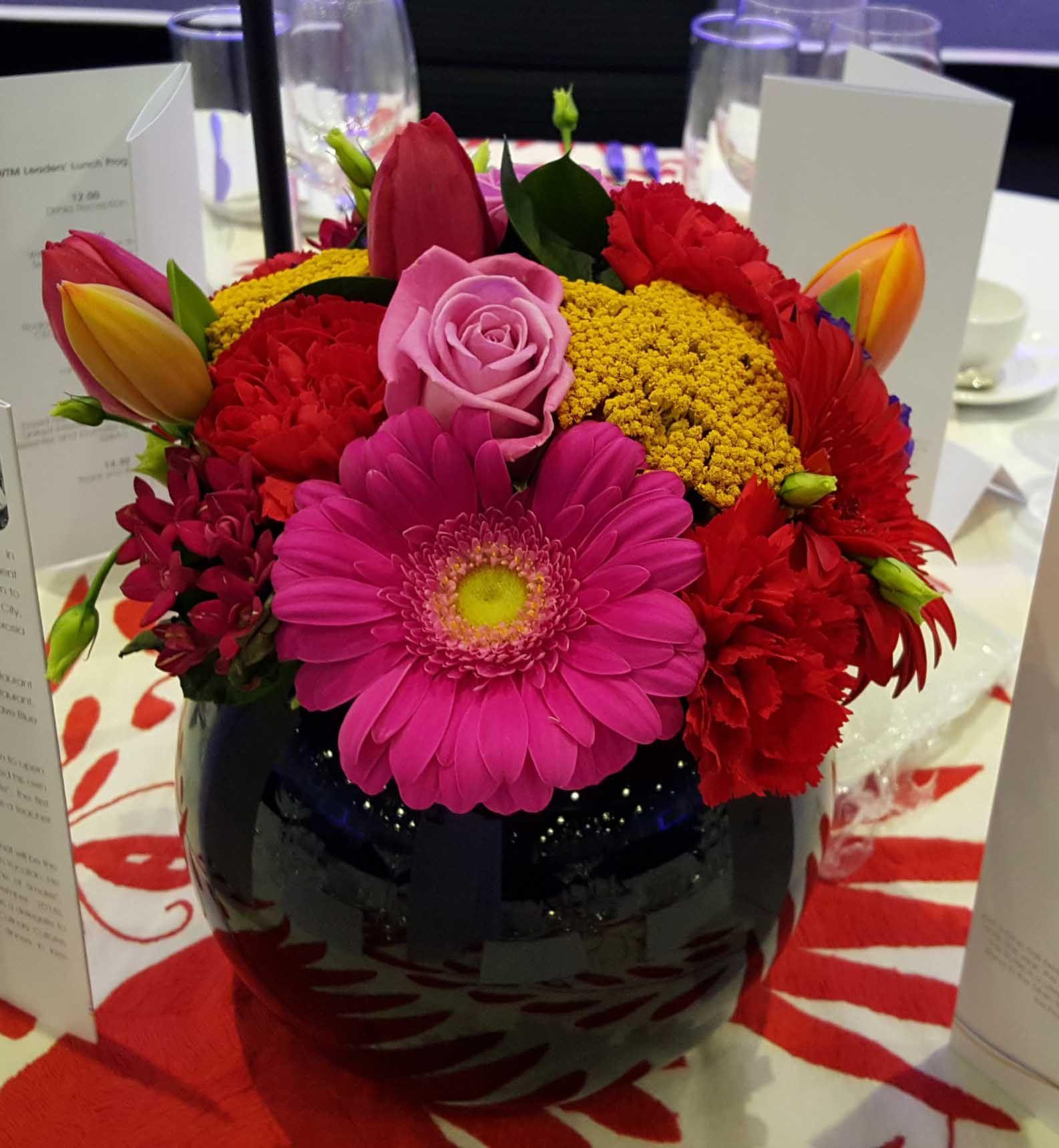 20Pv Pink Gerbera, Pink Rose, Pink Tulip, Red Gerbera, Red