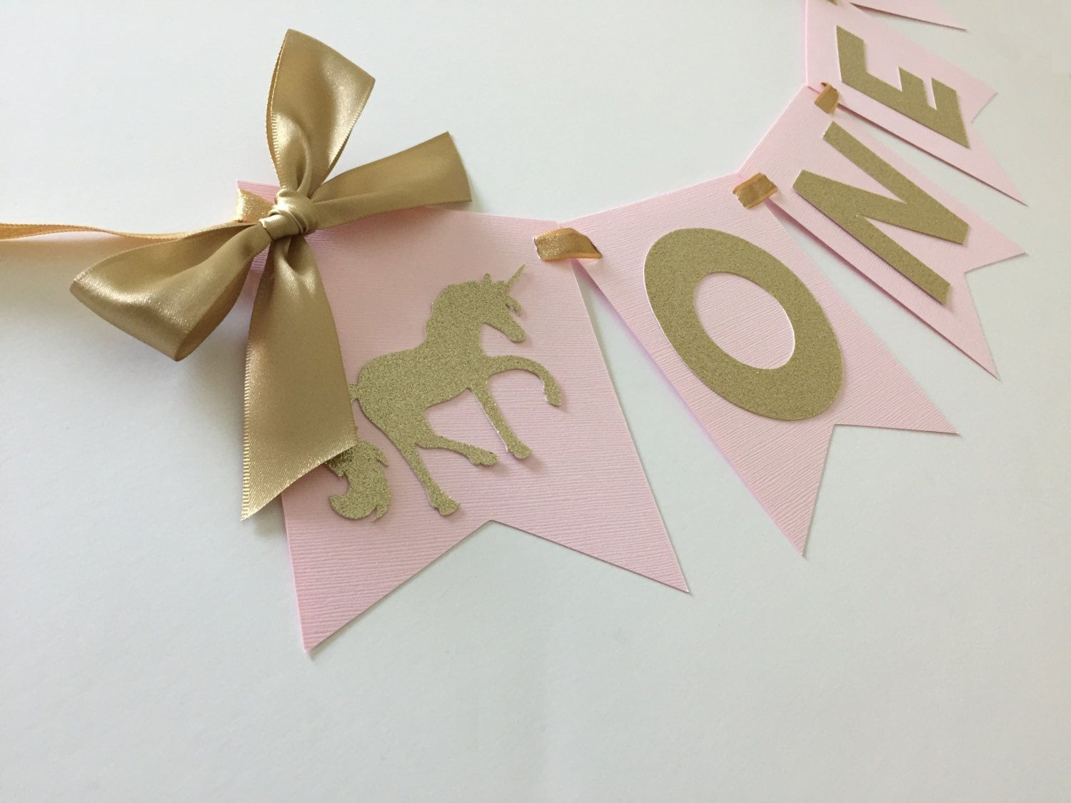 Gold Birthday Decorations Pink And Gold Unicorn High Chair Banner First Birthday