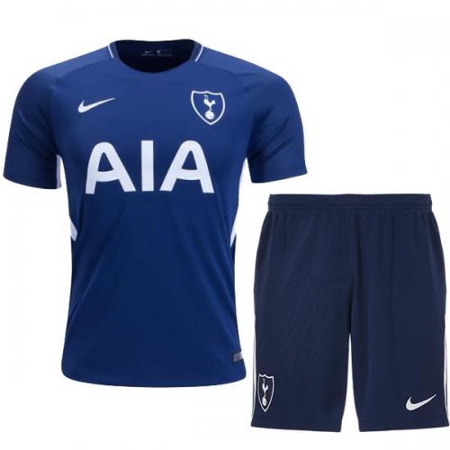 cf9e4b6db42 17-18 Tottenham Hotspur Away Blue Jersey Kit(Shirt+Short)