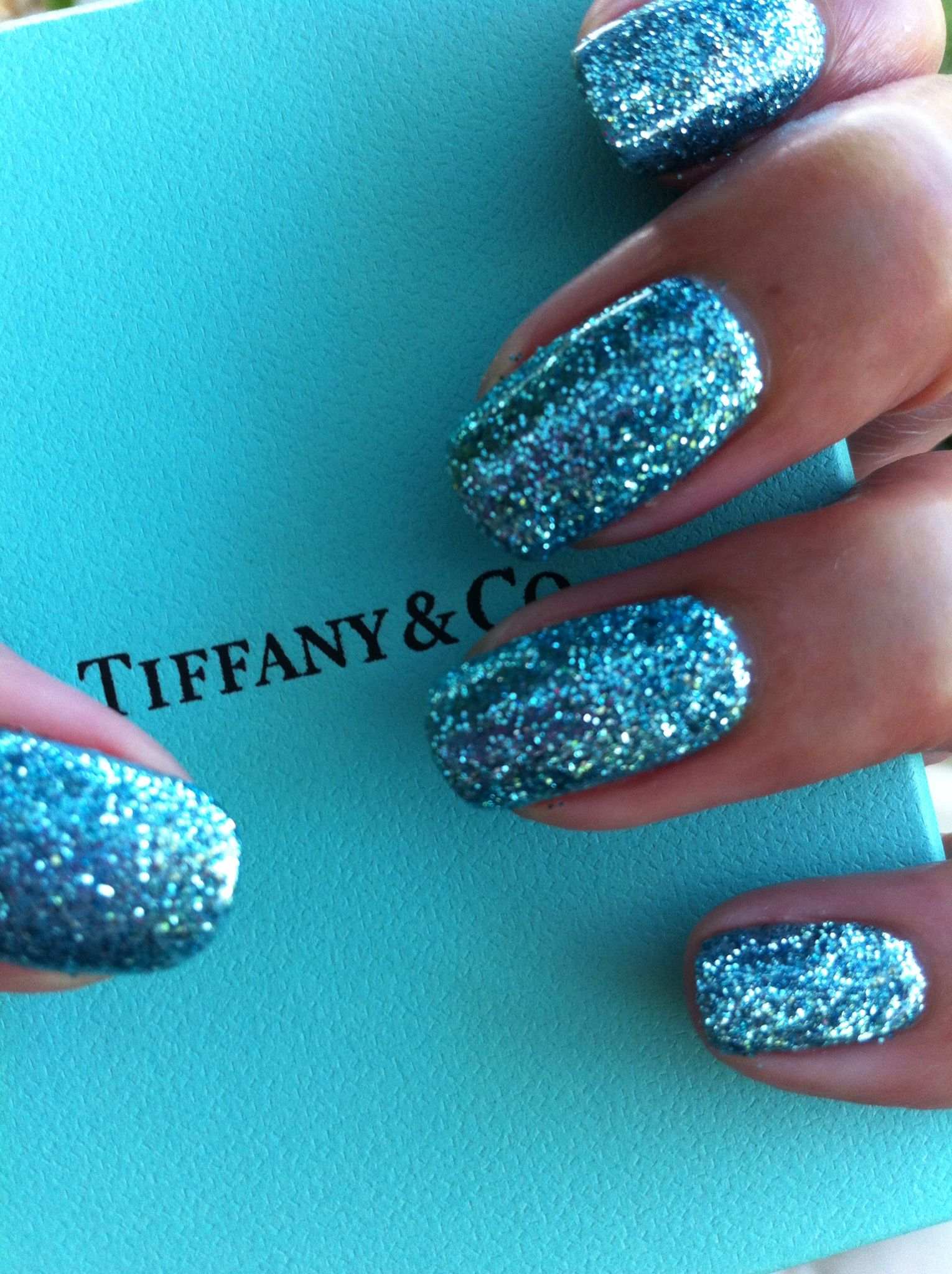 Tiffany co tiffany inspired gel nails in cnd shellac and tiffany co tiffany inspired gel nails in cnd shellac and lecente glitter intense prinsesfo Images