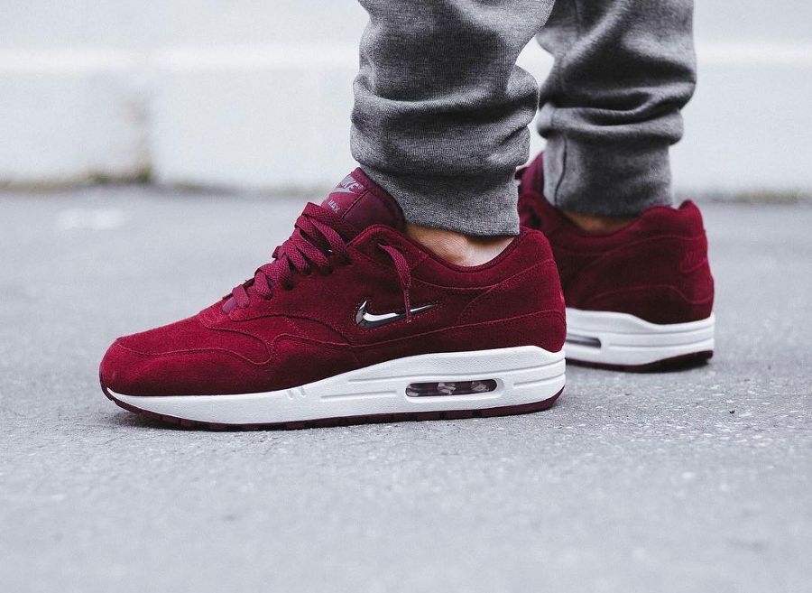 Nike Air Max 1 PRM SC Jewel Rouge 'Team Red Suede