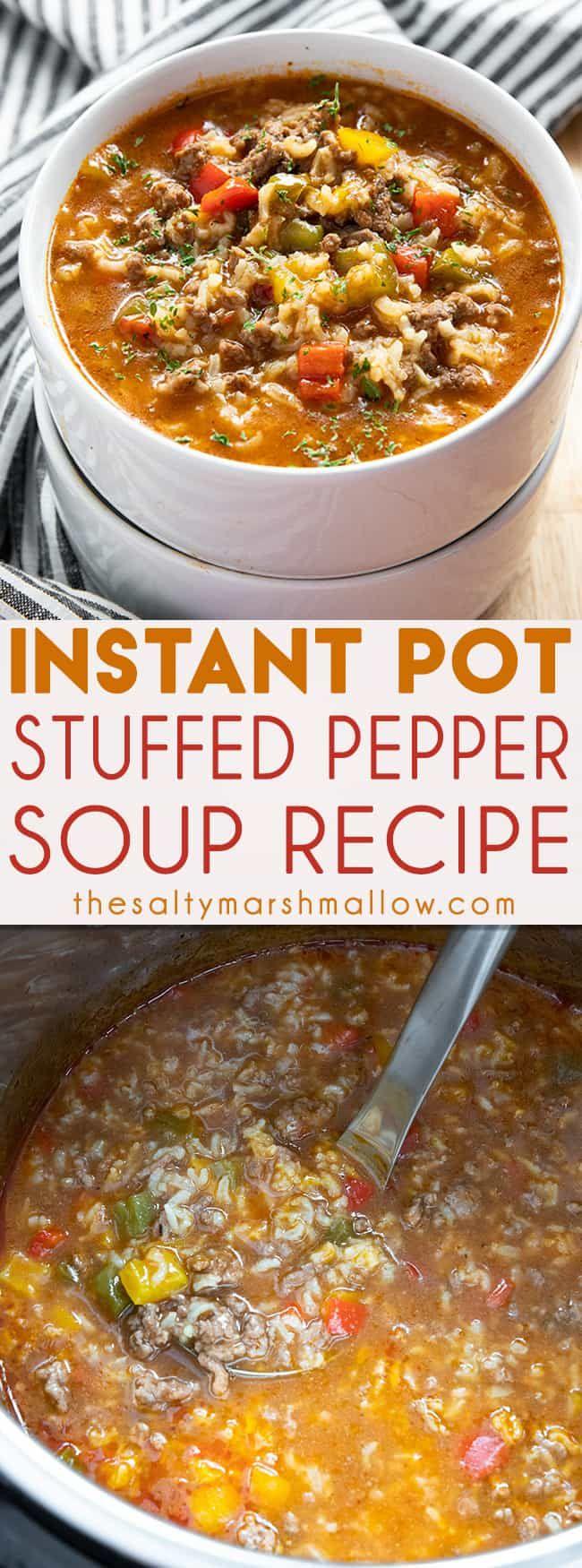 Instant Pot Stuffed Pepper Soup #bellpeppers
