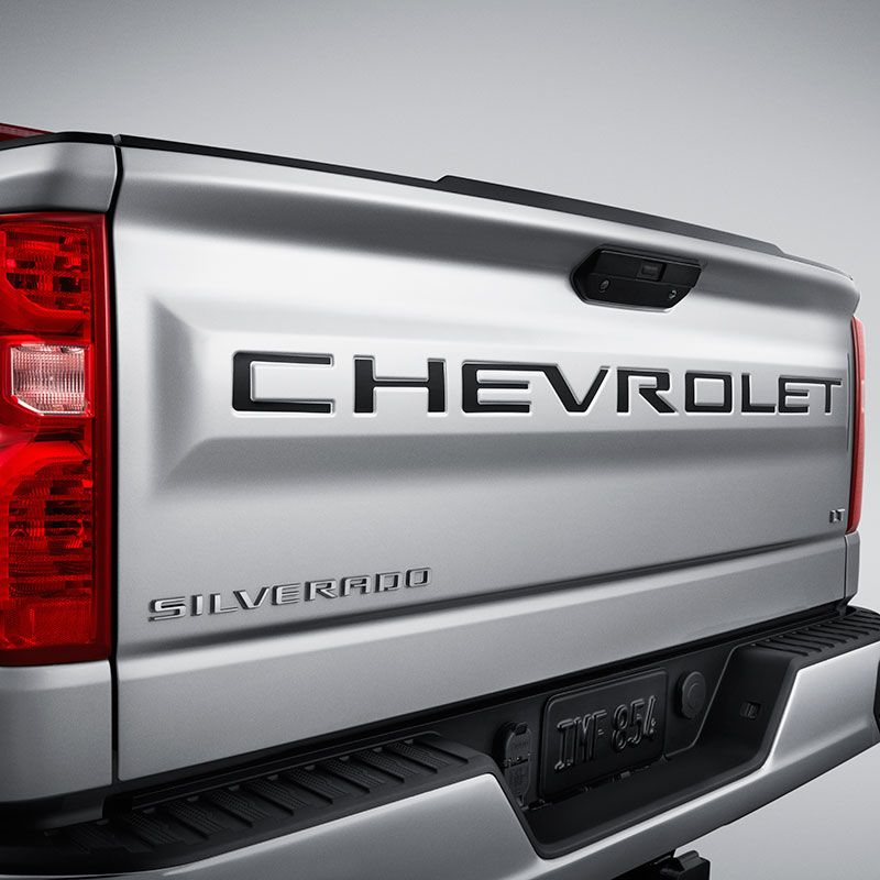 2020 Silverado 2500 Tailgate Chevrolet Lettering Decal Package Black 84370615 In 2020 Chevy Silverado Accessories Silverado Accessories Silverado