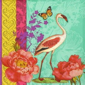 4x Paper Napkins for Decoupage Decopatch Craft Tropical Paradise