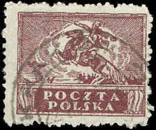 Scott # 145 - 1919 - ' Polish Cavalryman ', General Issue, Compound Laid Paper