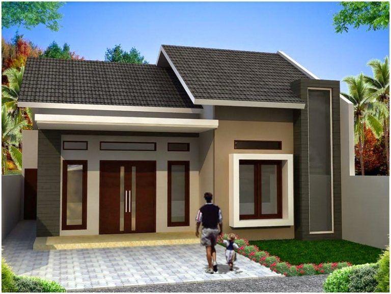 Luar biasa model desain rumah minimalis 1 lantai mewah
