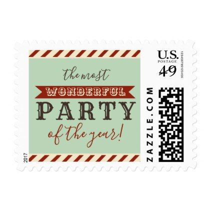 The most wonderful party of the year christmas postage christmas the most wonderful party of the year christmas postage christmas cards merry xmas family m4hsunfo