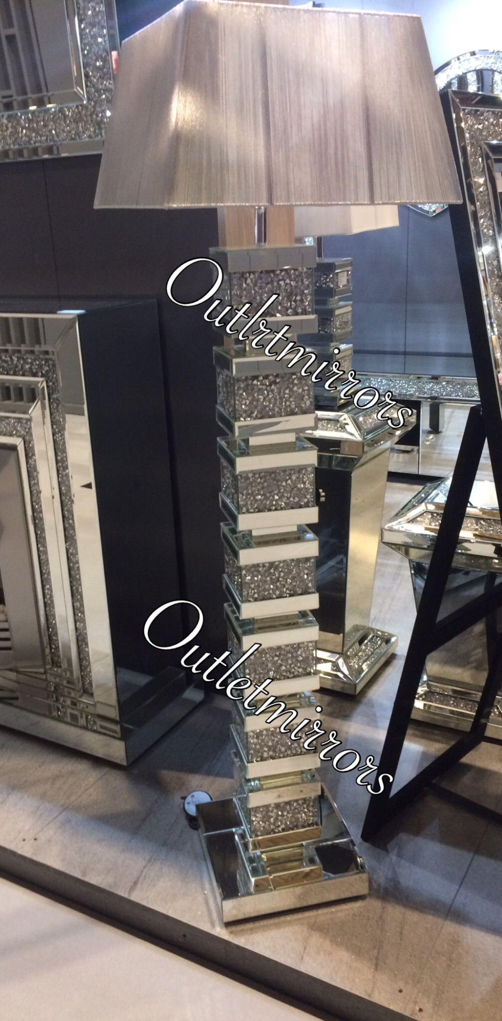 best value fae4b 7ea69 Diamond Crush Crystal Sparkle Mirrored Tall Venessa floor ...