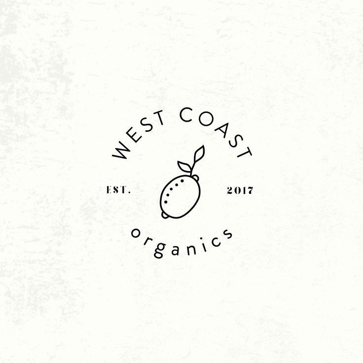Adorably Simple Logo Design Organic Food Graphic Design Line Art