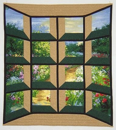 Pathway through my garden  by Ellen B, Michigan, USA. This tweaked ... : free attic window quilt pattern - Adamdwight.com