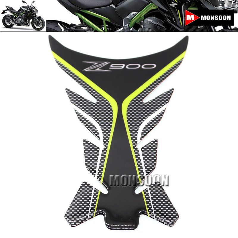 For KAWASAKI Z900 Z 900 2017 Motorcycle Accessories Carbon Fiber Tank Pad Fuel Decal Gas