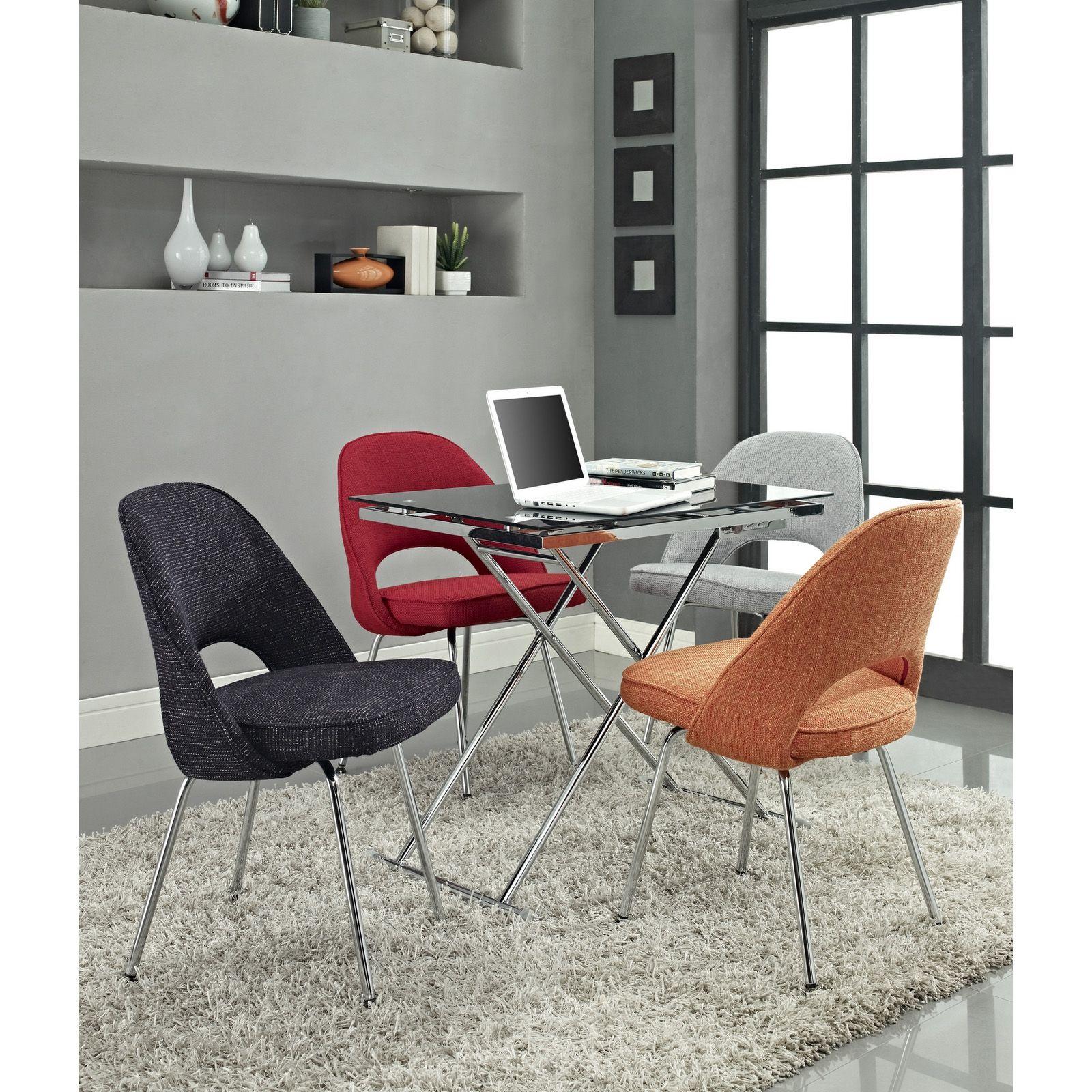 saarinen style side chair set office chairs pinterest side