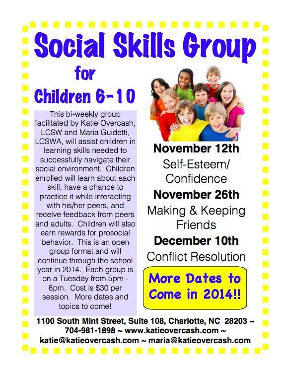 Social Skills Group for Children 6 - 10