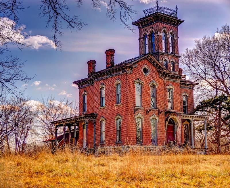 Built in 1871 by Anton Sauer, originally from Austria, this beautiful but now derelict Italianate home was a Sauer residence for several generations, during which time it was the site of many of the family's traumatic tragedies.  Two people have committed suicide in this house, while a third, a little girl, drowned in the pool on the property.  The original owner, Anton, also passed away in this house.