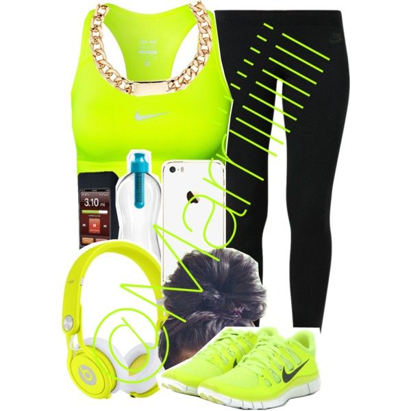 Need to lose some weight by marriiiiiiiii on Polyvore featuring moda, NIKE, Red Herring and Beats by Dr. Dre