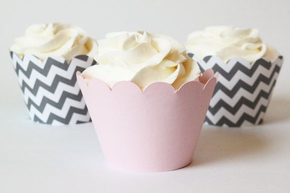 Hey, I found this really awesome Etsy listing at https://www.etsy.com/listing/186671739/baby-pink-and-grey-chevron-cupcake